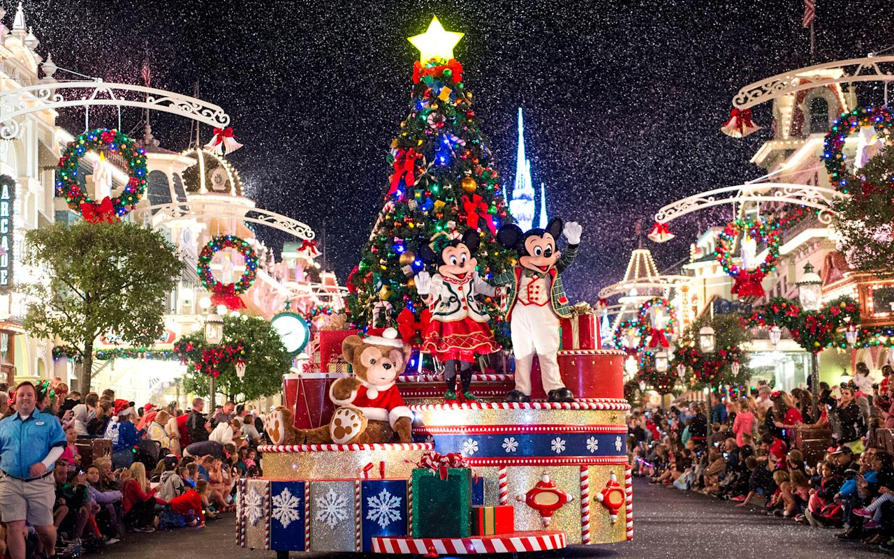 """<p><strong>Why Go:</strong> The happiest place on earth becomes even more magical at Christmas time with a visit to Disneyworld's <em><a rel=""""nofollow"""" href=""""https://disneyworld.disney.go.com/events-tours/holidays/"""">Mickey's Very Merry Christmas Party</a></em>. Here, the family can learn about worldwide Christmas traditions at Epcot World Showcase, and meet Santa Claus at Disney Springs.</p> <p><strong>What to do:</strong> If the force is strong with your kids, they will be delighted to encounter Chewbacca at the newest <a rel=""""nofollow"""" href=""""https://disneyworld.disney.go.com/attractions/hollywood-studios/star-wars/"""">""""Star Wars"""" exhibit</a> at Hollywood Studios. They can also brush up on their Jedi training at the launch bay. """"Frozen"""" fans can set sail on the new <em>Frozen Ever After</em> ride at Epcot's Norway Pavilion. (Fair warning: the <a rel=""""nofollow"""" href=""""http://www.travelandleisure.com/attractions/disney-world-frozen-ever-after-ride"""">lines are very long</a>.)</p> <p><strong>Where to Stay:</strong> <a rel=""""nofollow"""" href=""""http://www.swandolphin.com/"""">Swan and Dolphin Resort</a> boasts hotel amenities like a water slide, five heated swimming pools, a sandy beach, a playground, swan paddle boats, a games room, a basketball court, and—the best of all—hammocks for tired parents. A walk along the boardwalk at night offers a great view of the Disney fireworks.</p>"""