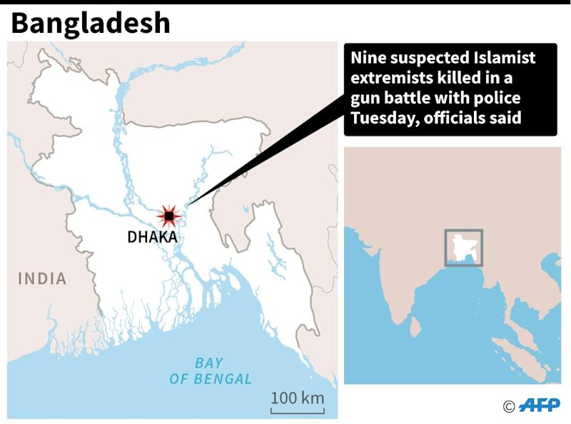 Islamist extremists killed in gun battle with police in Dhaka (AFP Photo/)