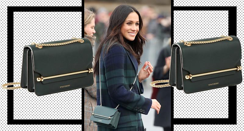 Meghan's sold-out bag is back in stock. [Photo: Yahoo Style UK]