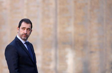 FILE PHOTO: France's Interior Minister Christophe Castaner attends the inauguration ceremony for new Paris police prefect in Paris, France, March 21, 2019.  REUTERS/Christian Hartmann
