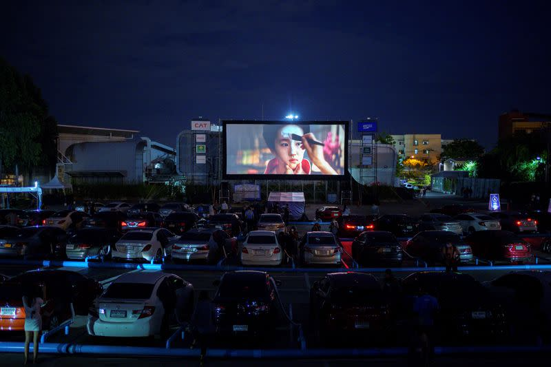 Thailand opens drive-in cinema with cooling system for film fans wary of coronavirus