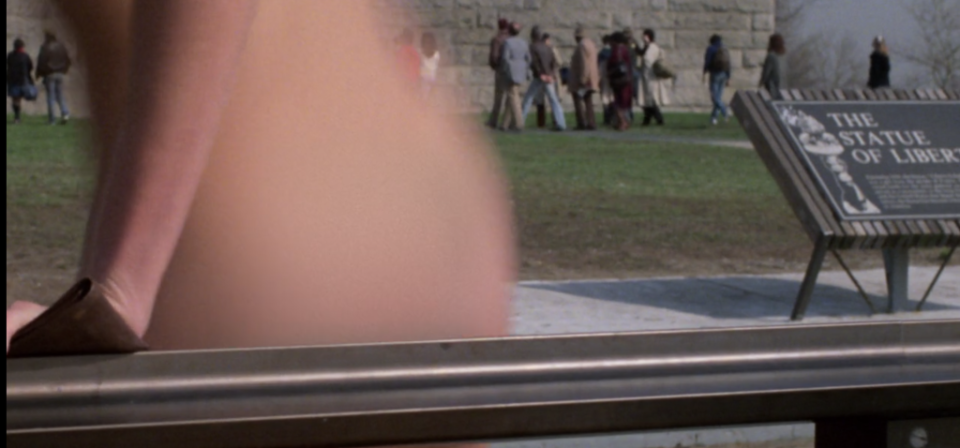 In another scene where Madison (Darryl Hannah) visits the Statue of Liberty, she was blurred instead of covered up. Photo: Buena Vista Entertainment