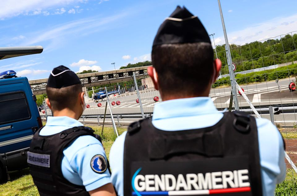 <p>Police in France search for the man</p> (AFP via Getty Images)
