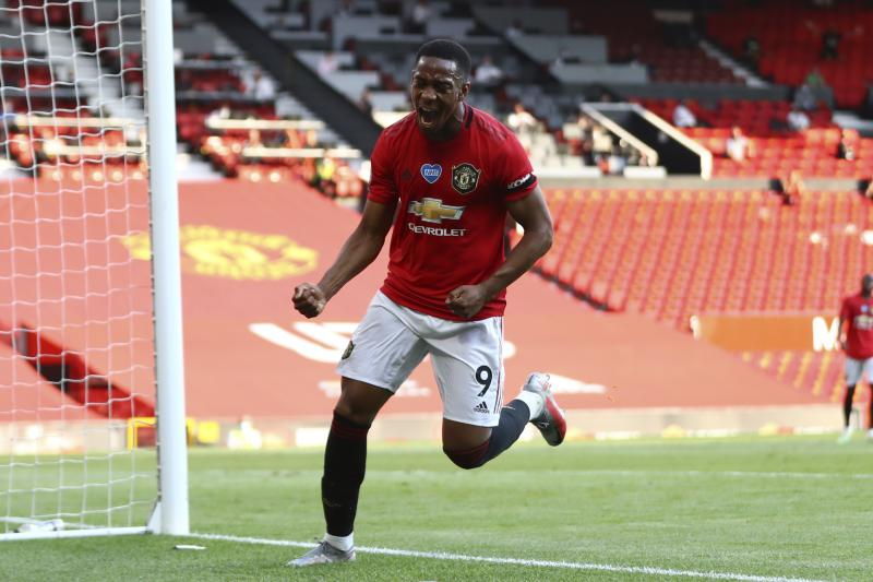 Martial's hat trick leads Man United to easy 3-0 win