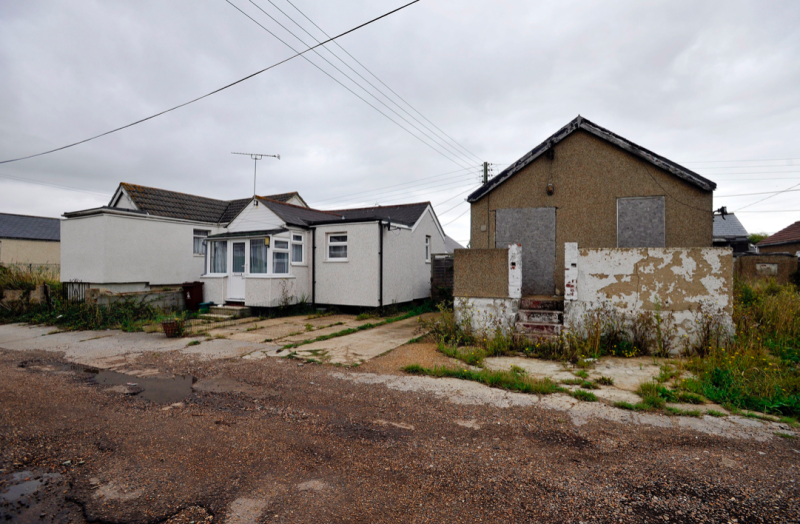 Jaywick has been named the most deprived neighbourhood in England (PA)