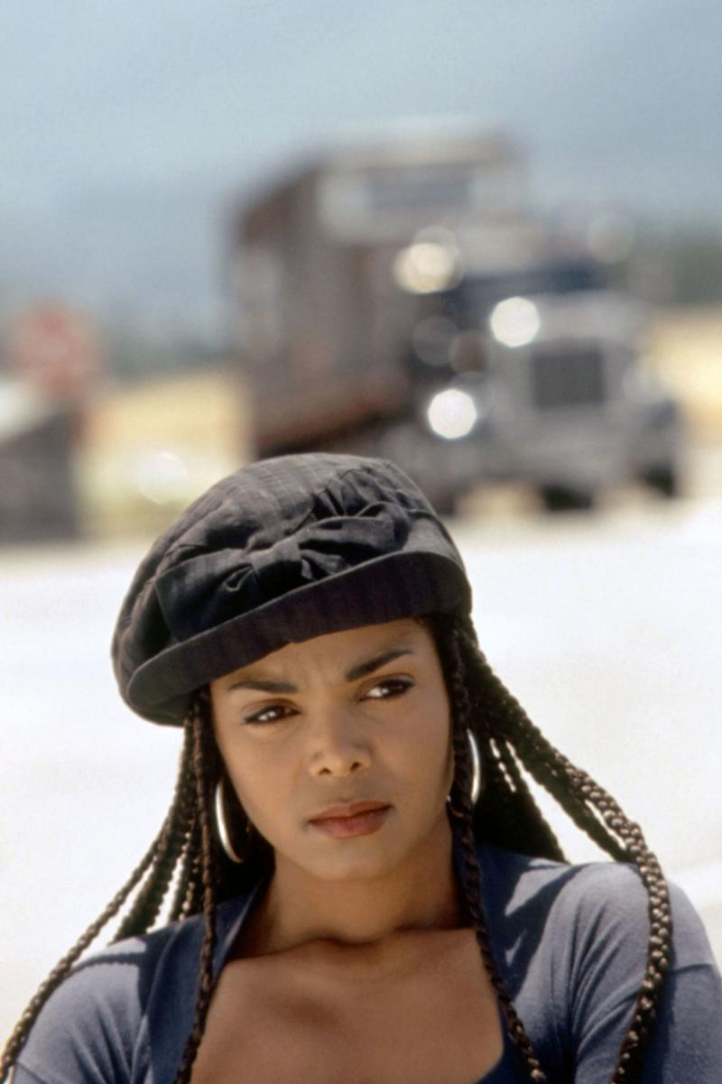 """Janet Jackson in the 1993 movie Poetic Justice. """"The '90s kind of put box braids on the map,"""" says the Jamaican-born Redway, who grew up wearing the hairstyle. But she points to the long tradition of braiding across Africa. """"I really want to bring back the essence of where hairstyles arrived from."""""""