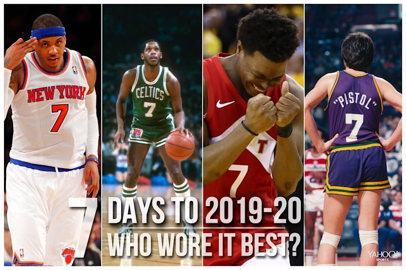 Which NBA player wore No. 7 best?