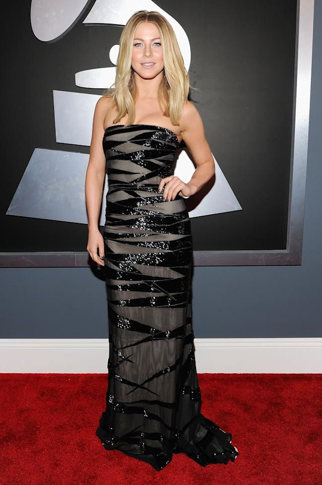 LOS ANGELES, CA - FEBRUARY 12:  Actress Julianne Hough arrives at the 54th Annual GRAMMY Awards held at Staples Center on February 12, 2012 in Los Angeles, California.  (Photo by Larry Busacca/Getty Images For The Recording Academy)
