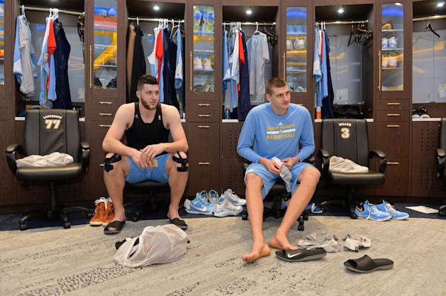Jusuf Nurkic and Nikola Jokic during their days together in Denver. (Getty Images)