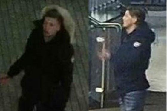 The two men that officers wish to speak with following a stabbing in Southwark (Met Police)