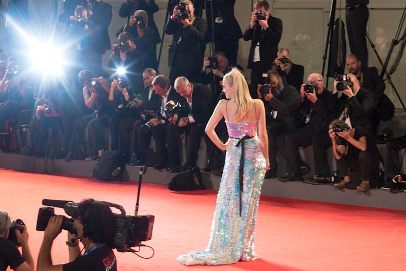 059212a8c2bf Dakota Fanning's Holographic Mermaid Dress Is From Your Sparkliest ...