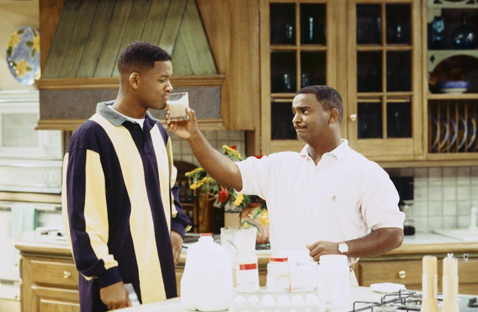 "THE FRESH PRINCE OF BEL-AIR -- ""Bourgie Sings the Blues"" Episode 4 -- Pictured: (l-r) Will Smith as William 'Will' Smith, Alfonso Ribeiro as Carlton Bank -- Photo by: Kassa Zakadi/NBCU Photo Bank"