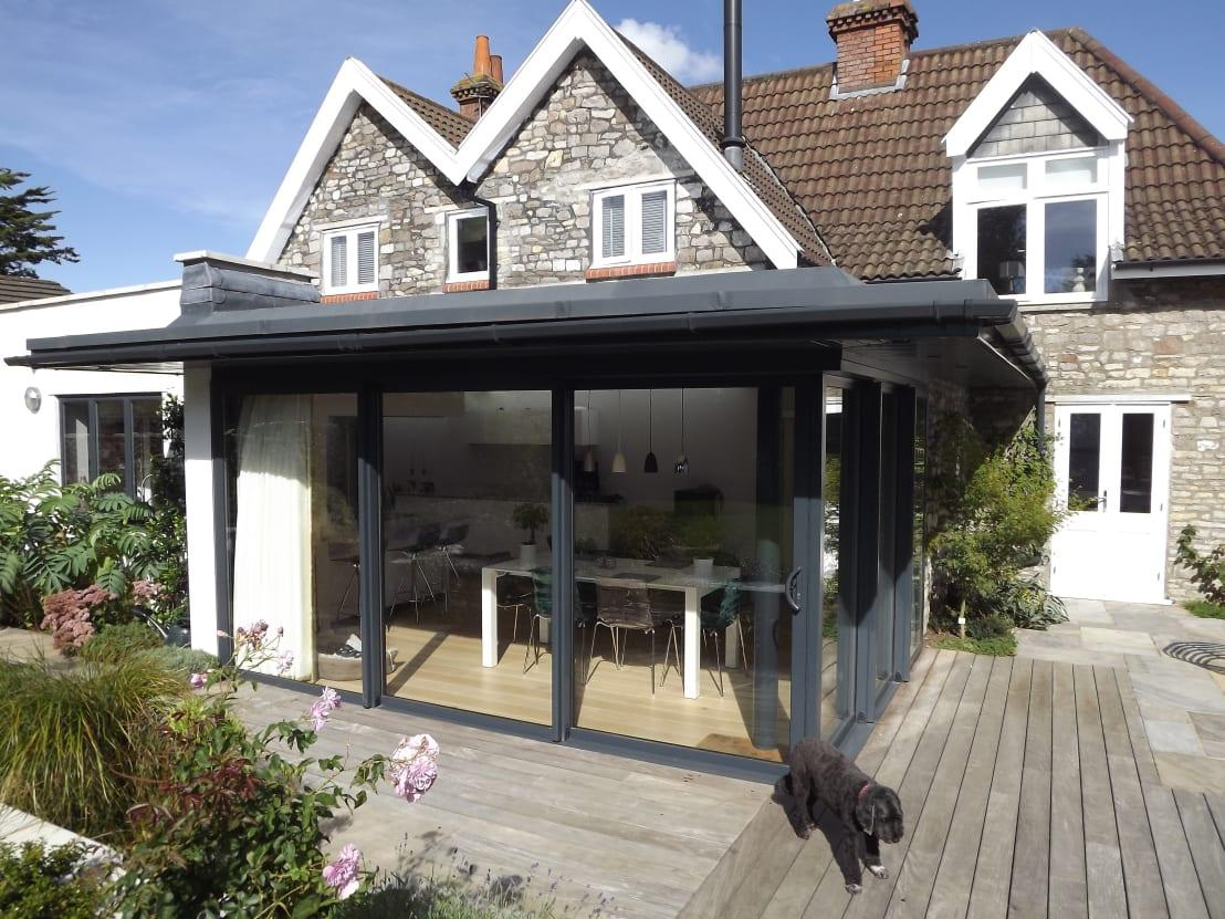 Sleek modern extension for an old bristol home for Classic house bristol