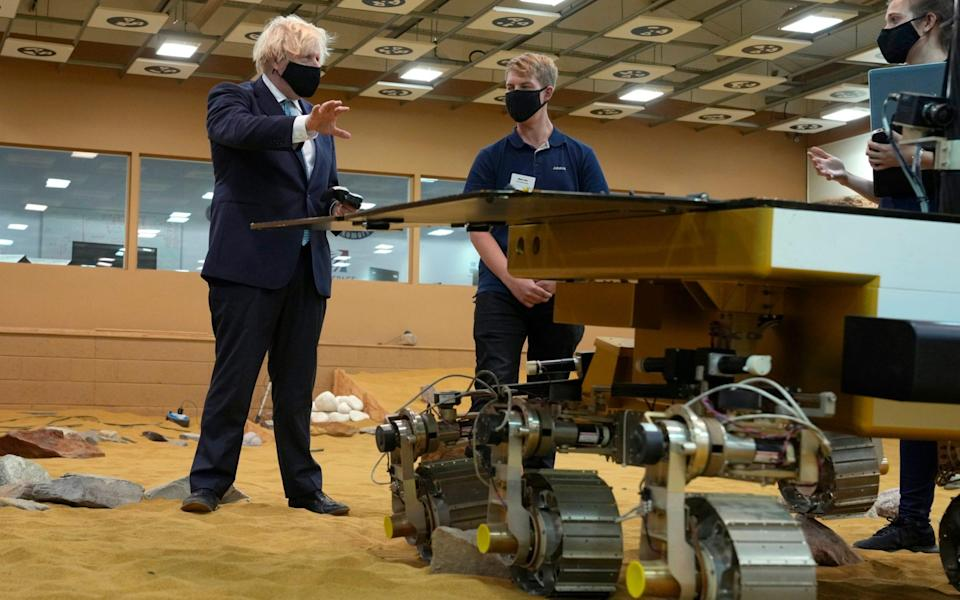 Intelligent life: Prime Minister visits the Airbus Defence and Space plant in Stevenage - AP
