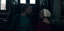 """<p>When Hulu's Emmy-winning series returns for Season 2 in April, Elisabeth Moss's heroine may not be named Offred anymore. That's because she's no longer """"Of Fred,"""" as in Fred Waterford, the man whose home she lived in as his designated breeder — a privilege granted to members of the Republic of Gilead's ruling class. Offred (or as she was known in another life, June) is freed from her prison at the end of the season finale, led away by Gilead's secret police and placed in the back of a black van. In Margaret Atwood's novel, that's where we leave her. Viewers, on the other hand, will soon see if she reclaims her name … or is forced to take another one. —<em>EA</em><br>(Photo: Hulu) </p>"""