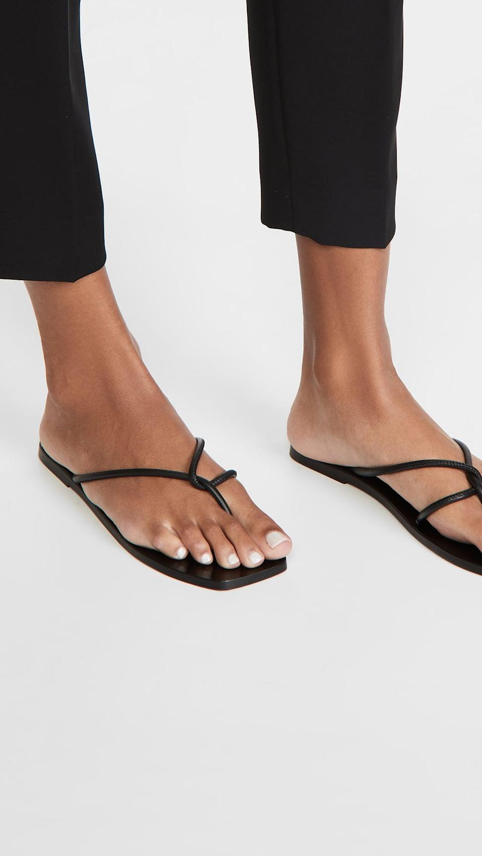 <p>You can't go wrong with these simple, beautiful <span>ATP Atelier Alessano Thong Sandals</span> ($250).</p>