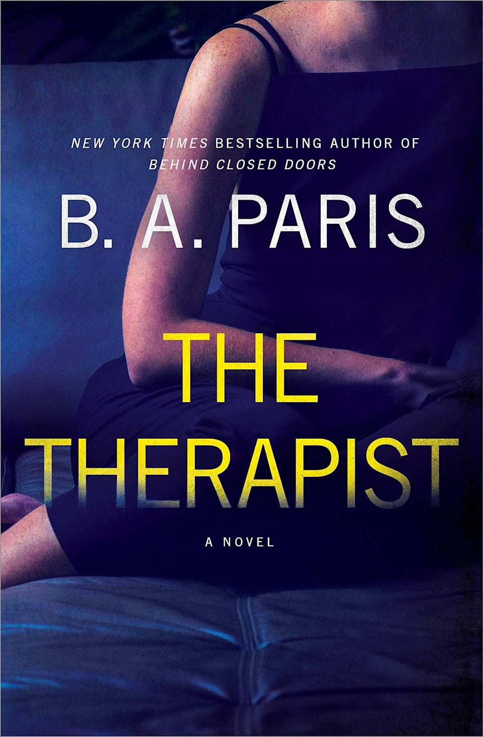 <p><span><strong>The Therapist</strong></span> by B.A. Paris turns a couple's dream home into a nightmare as they discover something terrible happened to the people who lived there before them. Now the new resident of the house, Alice, is determined to unravel the mystery of the woman who lived there, even though her neighbors refuse to talk about what happened there two years before. </p> <p><em>Out July 13</em></p>