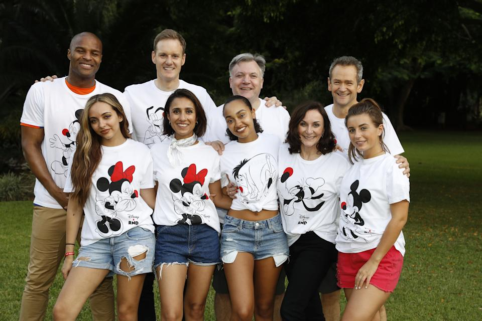 ARUSHA, TANZANIA - FEBRUARY 22: STRICTLY EDITORIAL USE ONLY (back row L-R) Osi Umenyiora, Dan Walker, Alexander Armstrong, Ed Balls and (front row L-R) Jade Thirlwall, Anita Rani, Leigh-Anne Pinnock, Shirley Ballas and Dani Dyer pose for a photo ahead of 'Kilimanjaro: The Return' for Red Nose Day on February 22, 2019 in Arusha, Tanzania, all to raise funds for Comic Relief supported projects in the UK and around the world. (Photo by Chris Jackson/Comic Relief/Getty Images for Comic Relief)