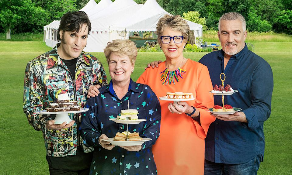 <p>L-R: Noel Fielding, Sandi Toksvig, Prue Leith, and Paul Hollywood are all back for the second series made for Channel 4.(Channel 4/Love Productions) </p>