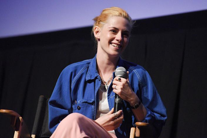 <p>Kristen Stewart takes the stage after a screening of <i>Spencer</i> on Sept. 6 at the Telluride Film Festival in Telluride, Colorado. </p>