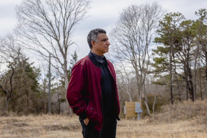 Randy King, the tribal chairman of the Shinnecock Indians, at the site where the tribe plans to start construction of a casino on its reservation in Southampton, N.Y., March 12, 2021. (Johnny Milano/The New York Times)
