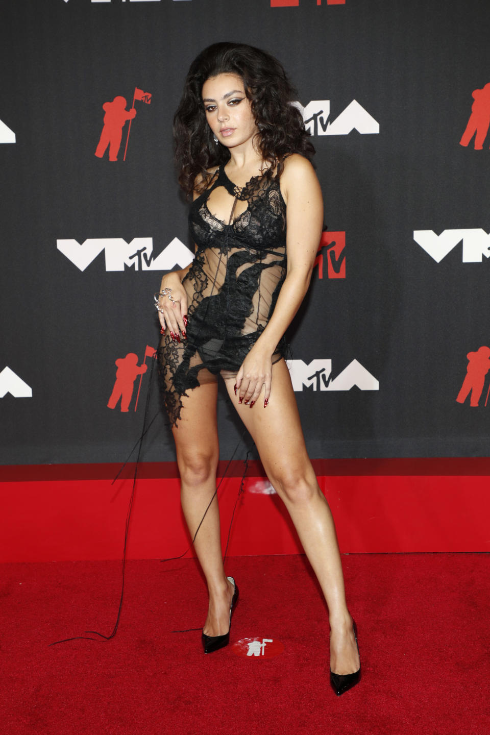 Charli XCX attends the 2021 MTV Video Music Awards