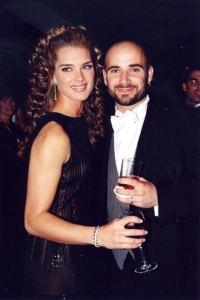 """<p>Agassi and Shields were married for nearly two years, and Shields wrote about the relationship in her memoir <em>There Was a Little Girl.</em> Though there were strained moments, Shields, overall, had positive things to say about her ex. """"He is a devoted person, sweet and good but he had this demon, this affliction,"""" she wrote in her memoir, <a rel=""""nofollow"""" href=""""http://people.com/celebrity/brooke-shieldss-bombshell-of-the-day-how-andre-agassi-told-her-he-was-a-meth-addict?mbid=synd_yahoostyle"""">per <em>People</em></a>. """"But the other side, and what makes this so hard, is the way he welcomed me and my mother and anybody I loved. He is a really good human being.""""</p>"""