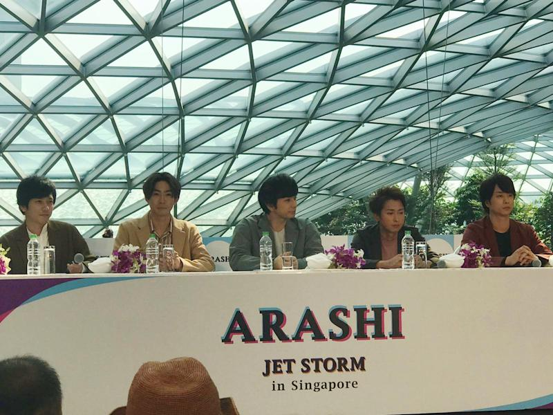 Arashi at Jewel Changi. (PHOTO: Yian Lu/Yahoo Lifestyle Singapore)