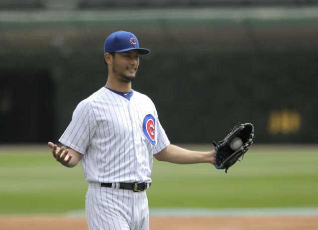 Yu Darvish made sure to treat his minor-league teammates — and their opponents — to a steak and lobster dinner. (AP Photo)