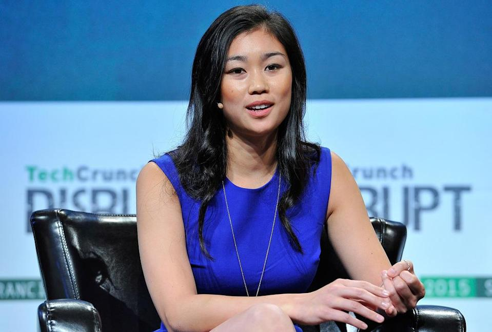 Former Pinterest software engineer Tracy Chou was more politically engaged in this election cycle than ever before. She voted in the primaries, which she had never done before and watched all the presidential debates, which she had also never done. Source: Steve Jennings/Getty Images for TechCrunch