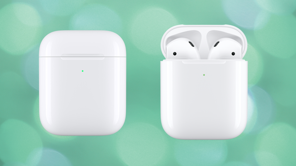 Save 25 percent on these Apple AirPods (wireless charging case). (Photo: Apple)