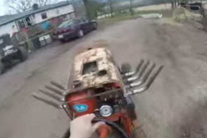 Lawn Mower Cylinder Block : Watch a big block chevrolet lawn mower in action