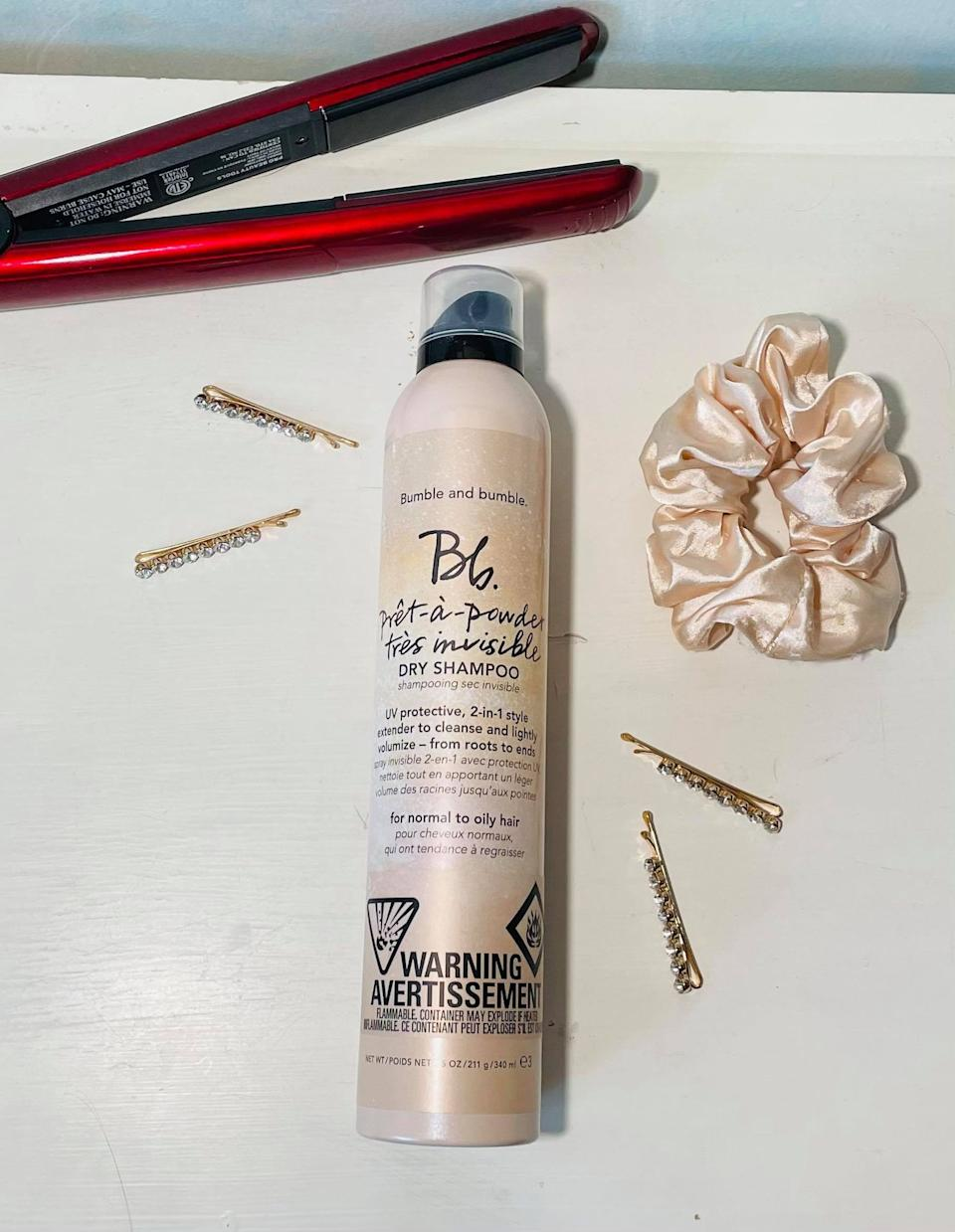 Bumble and bumble Bb. Pret-a-Powder Tres Invisible Dry Shampoo with French Pink Clay. Image via Sarah Rohoman.