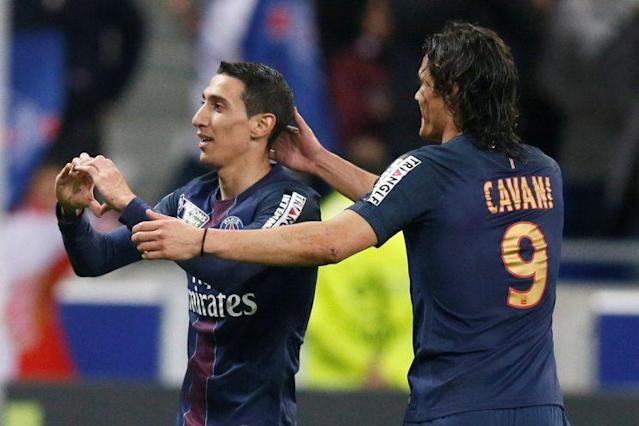 Angel Di Maria et Edinson Cavani (Reuters)