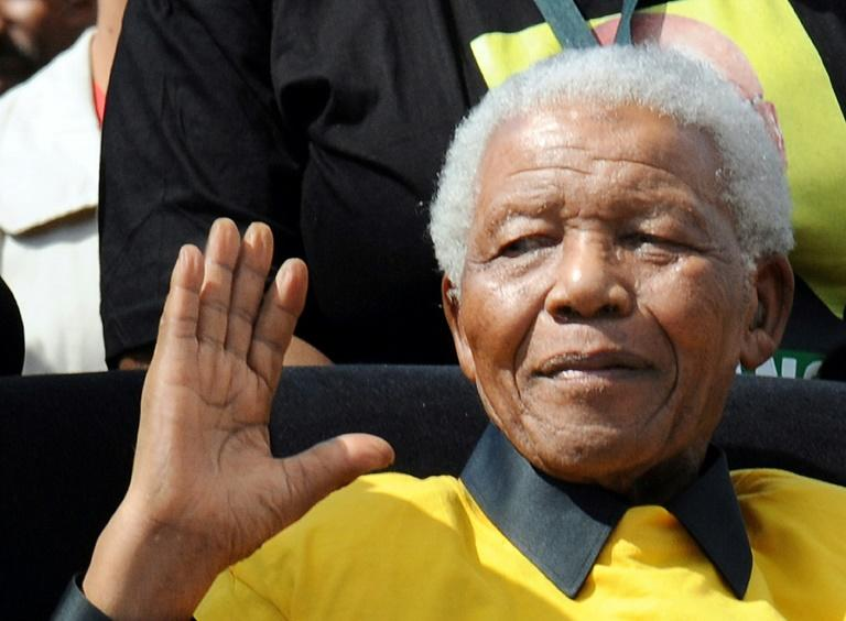 The late South African president Nelson Mandela, pictured in 2009