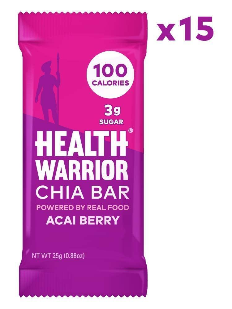 <p>If you love bars, reach for these <span>Health Warrior Chia Bars</span> ($17 for 15).</p>
