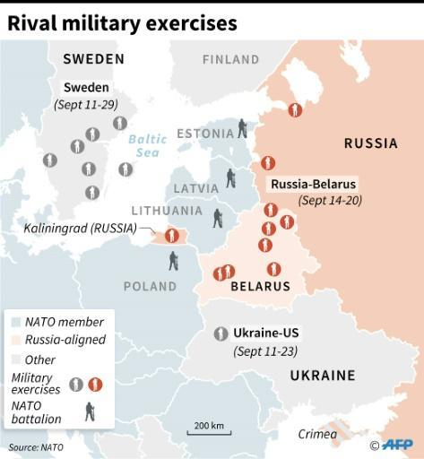 Russia launches war games on NATO's eastern flank