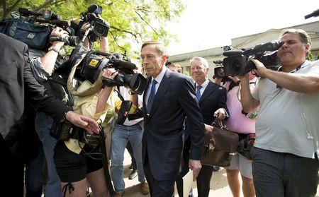 Former CIA director David Petraeus leaves the Federal Courthouse in Charlotte, North Carolina, April 23, 2015. REUTERS/Chris Keane