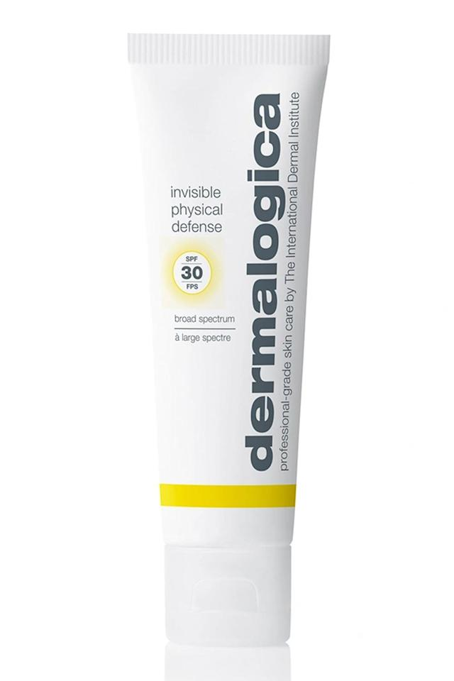 """<p><strong>Dermalogica</strong></p><p>sephora.com</p><p><strong>$54.00</strong></p><p><a href=""""https://go.redirectingat.com?id=74968X1596630&url=https%3A%2F%2Fwww.sephora.com%2Fproduct%2Fdermalogica-invisible-physical-defense-sunscreen-spf-30-P456582&sref=https%3A%2F%2Fwww.cosmopolitan.com%2Fstyle-beauty%2Fbeauty%2Fg30831822%2Fbest-zinc-sunscreens%2F"""" target=""""_blank"""">Shop Now</a></p><p>If you're hesitant to try a zinc <a href=""""https://www.cosmopolitan.com/style-beauty/beauty/g9272802/best-sunscreens-for-face/"""" target=""""_blank"""">sunscreen</a> for fear of looking like an ashy ghost, pls allow me to introduce you to this invisible option from Dermalogica. It goes on practically clear (trust me: I've been using it for weeks now) and is <strong>made with calming mushroom ex</strong><strong>tract to soothe <a href=""""https://www.cosmopolitan.com/style-beauty/beauty/a31347/beauty-products-sensitive-skin/"""" target=""""_blank"""">sensitive</a> or redness-prone skin</strong>. </p>"""