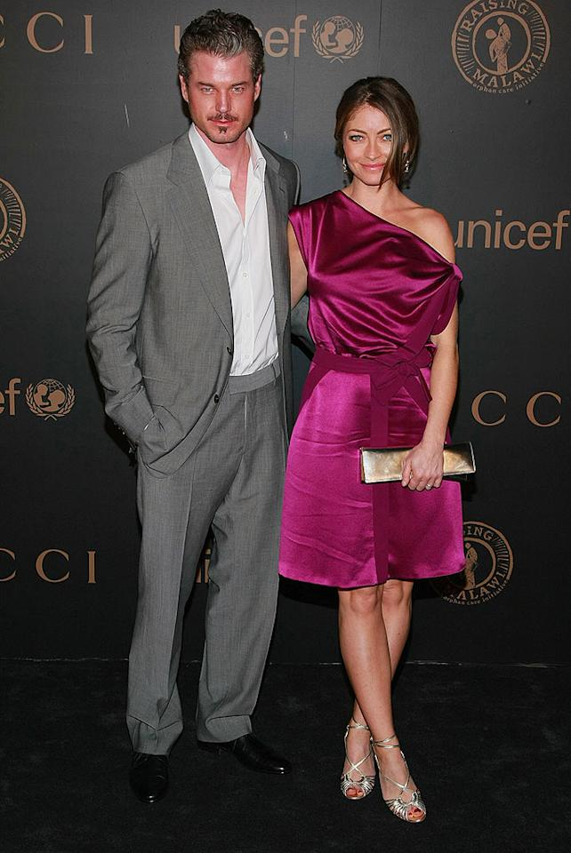 """""""Grey's Anatomy"""" hunk Eric Dane and his wife Rebecca Gayheart were among the A-list attendees at the UNICEF event. Dane revealed earlier in the week that he battled malignent cells on his lips. Dimitrios Kambouris/<a href=""""http://www.wireimage.com"""" target=""""new"""">WireImage.com</a> - February 6, 2008"""
