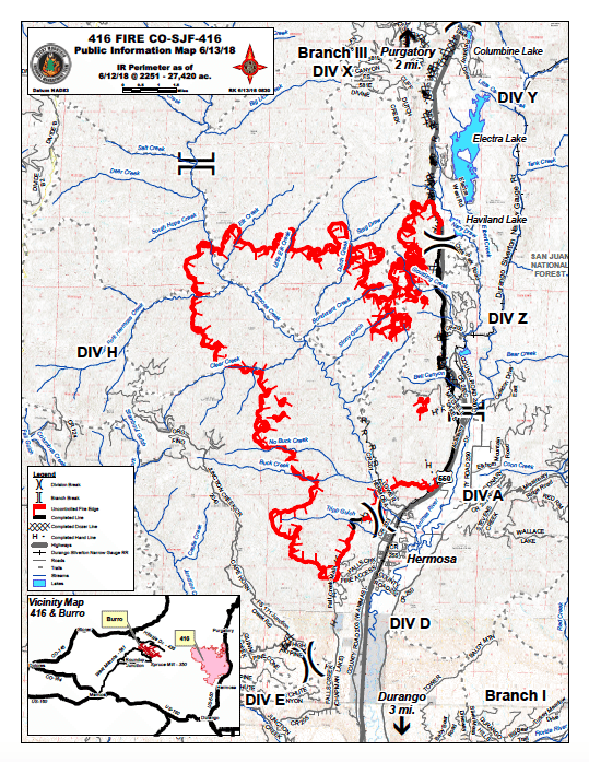 Colorado 416 Fire Map Update: Durango Fire Spreads to 27,420 Acres on