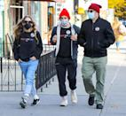 <p>Sarah Jessica Parker and husband Matthew Broderick take their eldest child, 18-year-old son James, to vote for the first time on Tuesday in N.Y.C.</p>