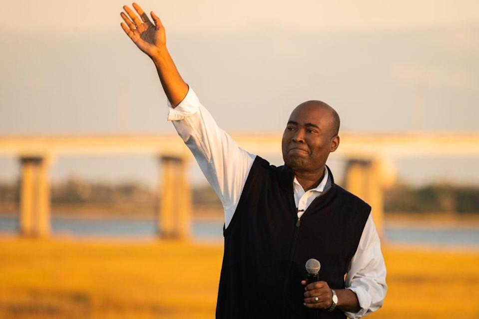 Democratic Senate nominee for South Carolina Jaime Harrison has put the pressure on Senator Lindsey Graham over his reversal on seating a Supreme Court justice in a presidential election year. (Getty Images)