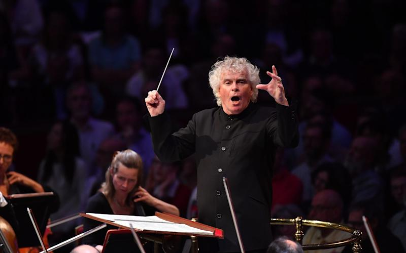 New season: Simon Rattle and the London Symphony Orchestra will bring the music of George Walker to live audiences at the Barbican from November - BBC/Chris Christodoulou