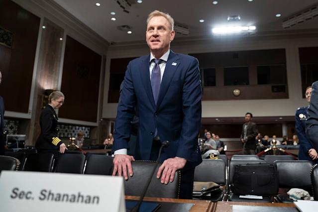 Acting Defense Secretary Patrick Shanahan goes before the Senate Armed Services Committee to discuss the Defense Department budget on March 14. (Photo: J. Scott Applewhite/AP)
