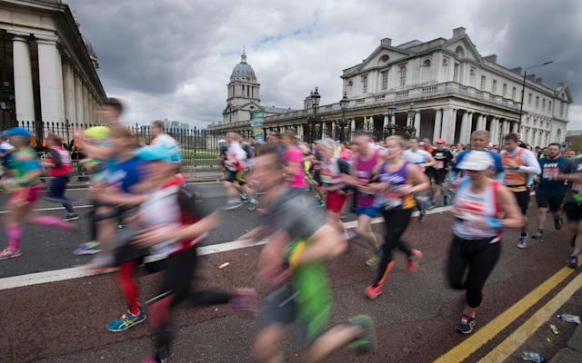 Central London will come to a standstill on Sunday as tens of thousands of amateur runners run the marathon - JULIAN SIMMONDS +447831668108