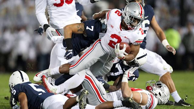 Ohio State escaped Happy Valley with a dramatic 27-26 win. (Associated Press)
