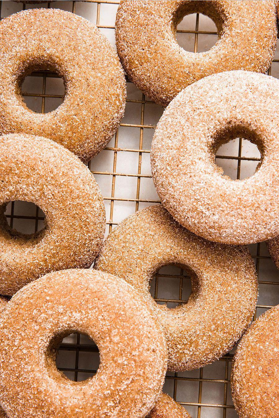 "<p><a href=""https://www.delish.com/uk/cooking/recipes/a30165545/how-to-make-donuts-at-home/"" rel=""nofollow noopener"" target=""_blank"" data-ylk=""slk:Donuts"" class=""link rapid-noclick-resp"">Donuts</a>...that are delicious and vegan?! Believe it.</p><p>Get the <a href=""https://www.delish.com/uk/cooking/recipes/a34050952/vegan-donuts/"" rel=""nofollow noopener"" target=""_blank"" data-ylk=""slk:Cinnamon Sugar Vegan Donuts"" class=""link rapid-noclick-resp"">Cinnamon Sugar Vegan Donuts</a> recipe.</p>"