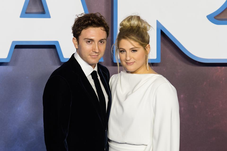 LONDON, UNITED KINGDOM - DECEMBER 18, 2019: Daryl Sabara and Meghan Trainor attend the European film premiere of 'Star Wars: The Rise of Skywalker' at Cineworld Leicester Square on 18 December, 2019 in London, England.- PHOTOGRAPH BY Wiktor Szymanowicz / Barcroft Media (Photo credit should read Wiktor Szymanowicz / Barcroft Media via Getty Images)