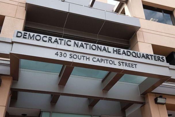 PHOTO: The headquarters of the Democratic National Committee in Washington, D.C., Aug. 22, 2018. (Saul Loeb/AFP via Getty Images, FILE)